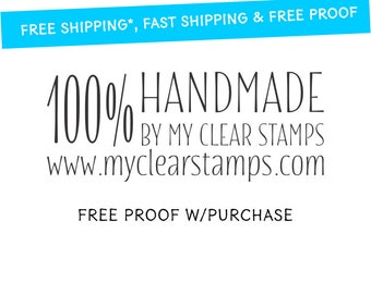 Custom Rubber Stamp / 100% Handmade by with your website.  DIY custom stamp.   Mounted with Handle or Self-Inking - 20462