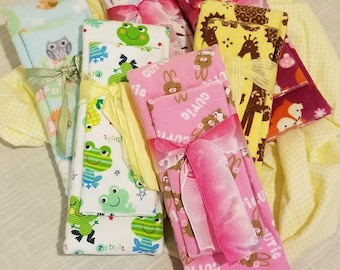 Infant Receiving Blanket Sets - first Animals