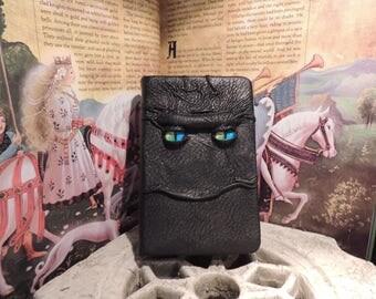 Mythical Beast Book (Black  leather with Rainbow eyes)
