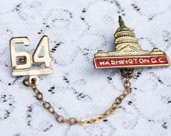 1964 Washington D.C. Capital Building Sweater Clip