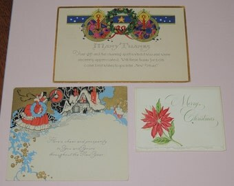 1920 to 30s Holiday Cards, all unused