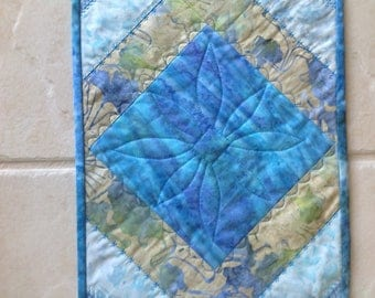 """Batiks Quilted Fabric Table Runner Table Topper 11"""" x 45"""""""