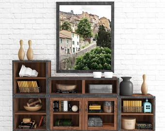Tuscany Photography - Italy Travel Photography - Rustic European Wall Art - Tuscan Decor - Italian Photo - Tuscany Picture  Small Town Print