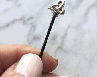 Celtic Knot Hairpin Bobby Pin Sterling Silver Wire Wrapped