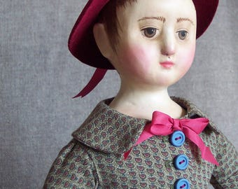 Izannah Walker Style Doll dressed as Kate Greenaway child
