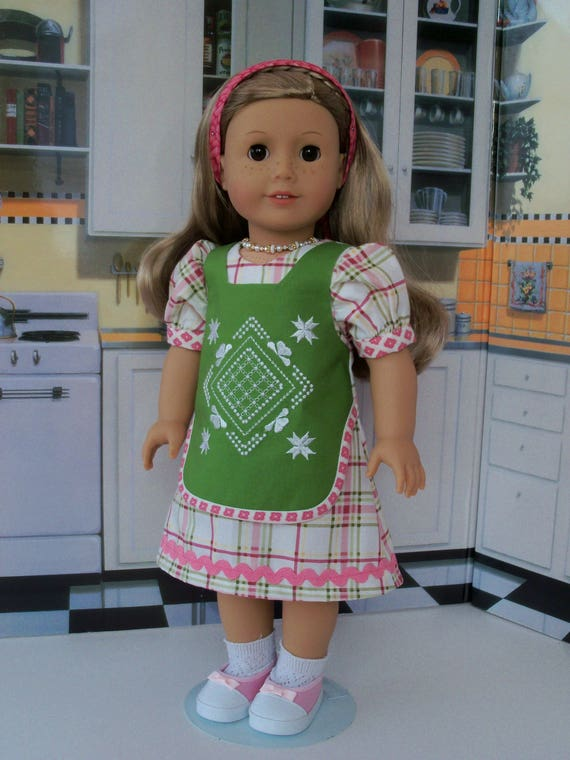 """CLEARANCE SALE!! / 18"""" Size/  Embroidered Apron Dress Fits  American Girl® or Other 18"""" Dolls"""