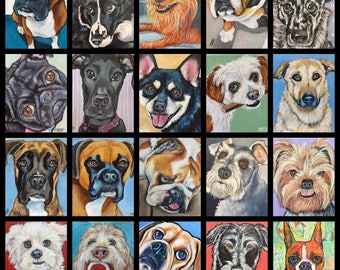 Pet Portrait  Special 6x6x5/8 Painted from your photographs Dog Art Pet Lover