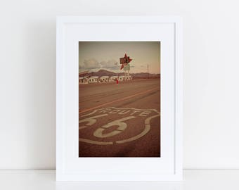 Route 66 Sign | Retro Roadside | Neon Sign Print |  Roy's Motel Sign | Roadside America | California Wall Art | Neon Sign Art | Road Trip