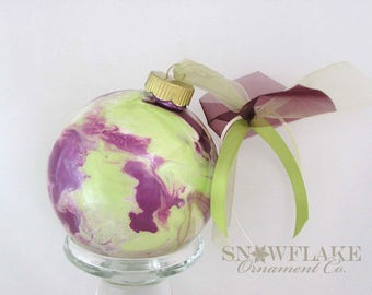 WINE AND TIME Custom Christmas Ornament - Personalized Glass Gift