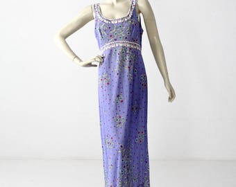 1960s Pucci Slip Dress / Vintage Pucci Form Fit Rogers Night Gown