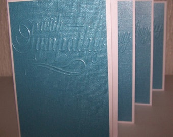 Sympathy note cards. Set of 12 bereavement cards. Boxed sympathy greeting cards. With sympathy, condolence cards, embossed funeral cards.