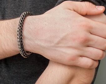 Chainmail Bracelet, Full Persian, Stainless Steel, Rugged Bracelet, Men's Bracelets, Men's Jewellery, Mens Jewelry, Boyfriend Gift