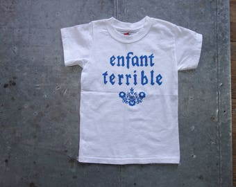 enfant terrible-wild child- child's tshirt-silkscreen- youth small