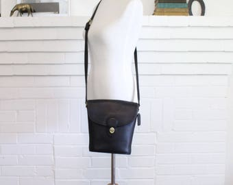 Vintage Coach Bag // Crossbody Bucket Bag Black // Coach Handbag Purse // Binocular Bag