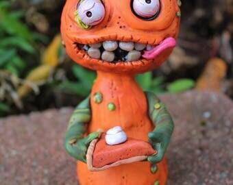 Cannibal Pumpkin Pie Polymer Clay Sculpture