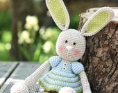 PATTERN - Frilly-pants Bunny - crochet pattern, amigurumi pattern, PDF