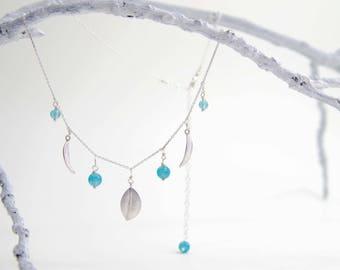 Three Leaf Edition  |   Aquamarine Elven Necklace
