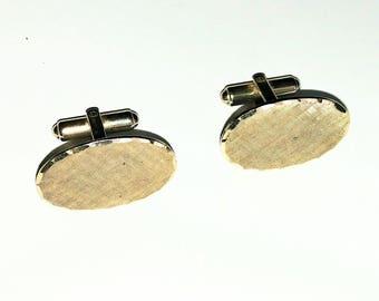 Cuff Links Oval Mens Vintage Jewelry Jewellery Wedding Accessories Gold Filled Groomsmen Cufflinks Gift Guide Men Women