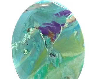 Landscape Polymer Clay  Pendant