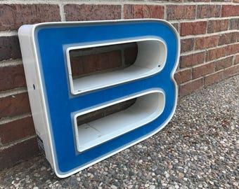 B - Reclaimed vintage letter - Blue - XL