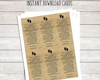 Huellas en la Arena Printable Poem - Recuerdo para Bautizo - Baby Baptism First Communion Religious- Printable Cards - Instant Download