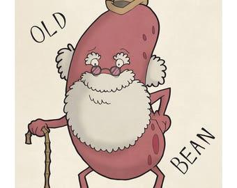 Old Bean - Illustration Print