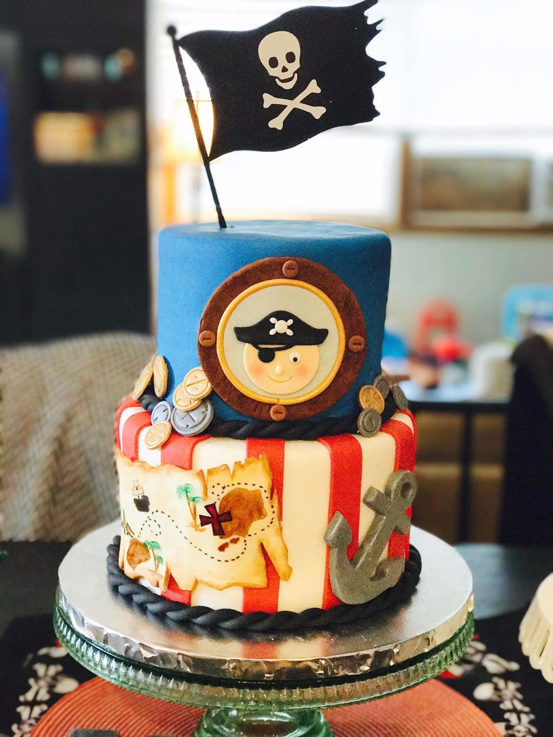 Pirate Birthday Cake Topper Pirate Theme Birthday Party Supplies