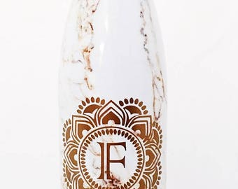 Calacatta Gold Swell Bottle - Bridesmaids, Groomsmen, Teacher, Sorority, Wedding, Swell Bottle
