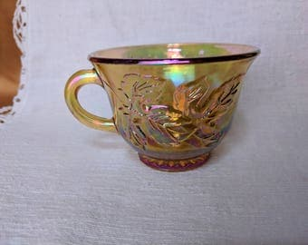 Vintage Princess Amber Carnival Cup for Punch Set by Indiana Glass *eb