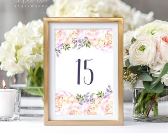 Reception Table Numbers - Lavender Garden (Style 13766)
