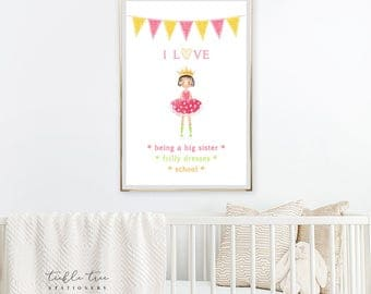 Art Print - Things I Love/Girl's Room (W00012)