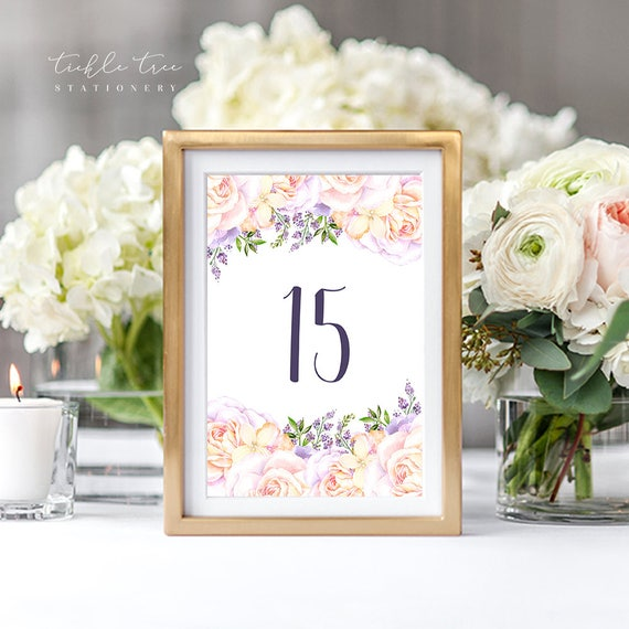 Table Numbers - Lavender Garden (Style 13766)