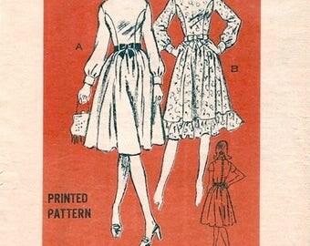 Modest Romantic Boho Uncut Vintage 1970s Prominent Designer M200 Studio Six Dress Sewing Pattern B34