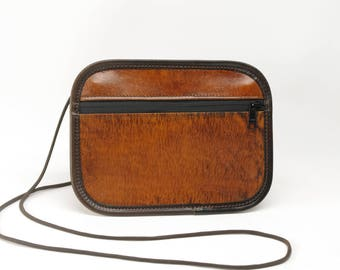 Medium Leather Phone / Passport Crossbody Bag