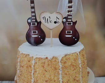guitar player wedding cake topper electric guitar wedding cake topper guitar groom rock 15015