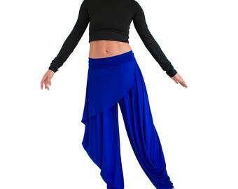 Draped Wide leg pants harem trousers casual loose plus size boho chic best selling women pants trending items jersey xl, xxl, xxxl JASMINE