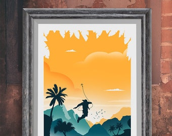Uncharted Game Art Poster Print - Travel Poster - Video Game Poster - Minimalist Art Print