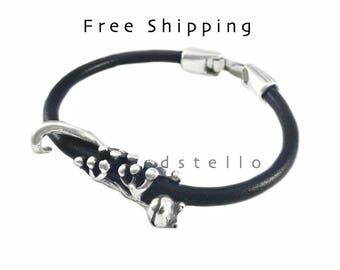 Gecko bracelet, Gecko jewelry, Women's bracelet, Leather bracelet, Jewelry for her, Lizard bracelet, Spanish leather, First quality