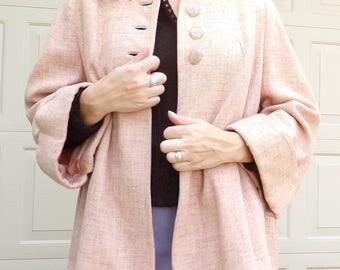 BLUSH WOOL swing JACKET 1940's 1950's S M vintage coat