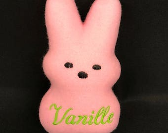 Dog Toy Marshmallow Bunny Personalized for your puppy