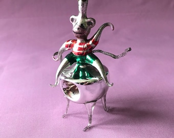 Antique Monkey Christmas Glass Ornament Tree Toy German Christmas Decorations Vintage Mercury Glass Figurine vintage decor