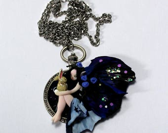 Peter Pan Lost Boys Dark Fairy Polymer Clay Necklace