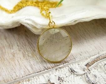 Citrine Necklace / Crystal Necklace