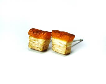 Roasted Pork/ Siu Yoke/ Siew Yoke/ 烧肉 earrings