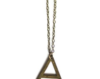Minimalist Triangle Pendant Chain Necklace   Modern Necklace   Minimalist   Modern Jewelry   Gift