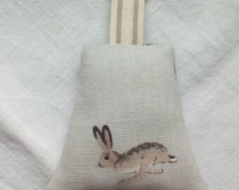 Sophie allport hare fabric handmade keyring
