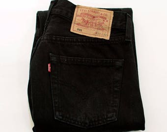 Vintage Levi 501 Jeans Straight Leg Mid Rise Made in United Kingdom W 29 L 30 / UK 8 / EU 36 / US 4