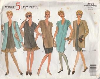 Comfy 90s Wardrobe Pattern Vogue 2885 Sizes 8 10 12 Uncut