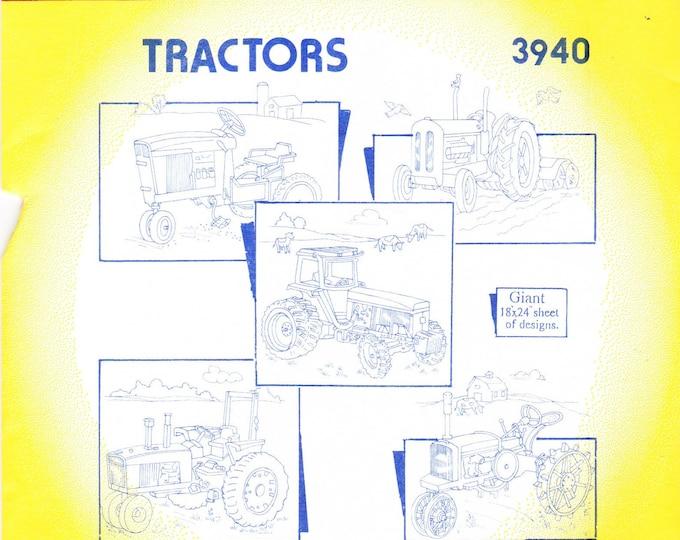 Vintage Aunt Martha's Hot Iron Transfer 3940, Tractors