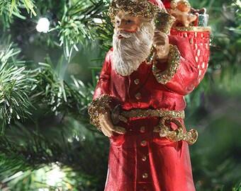 Christmas Clip Art, Santa Ornament Photo, Santa Claus Photo, Ornament Clipart, Stock Images, Holiday Digital Download, Digital Images